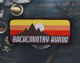"Backcountry Hiking Patch | Sew On | Embroidered | Patches for Jackets | 3.75"" (Free Shipping US)"