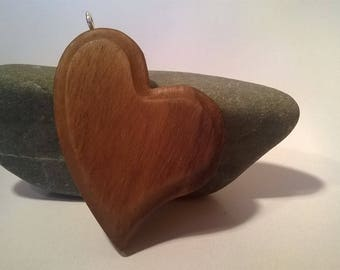 Heart pendant in Walnut