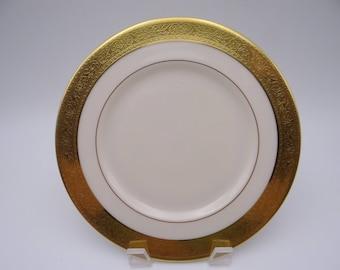 "Vintage Lenox ""Westchester"" Gold Encrusted Salad Plate - 6 Available"