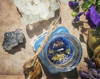 Blue Cornflower Candle