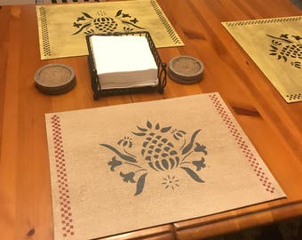 custom placemats floorcloth canvas