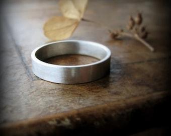 Recycled palladium ring - 4mm wedding band