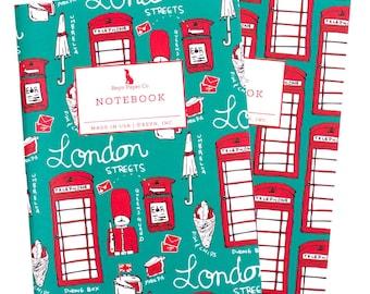 London Mini Jotter Set/Mini Notebook Set/Travel Notebook Set/Pocket Notebooks/London Notebook/Telephone Booth/England/London/Travel/English