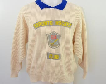 on sale Vintage TORONTO HOCKEY CLUB sweater made in France