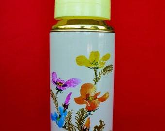 New Old Stock 80's Thermos - Vintage Thermos - Coffee Thermos- Cup Thermos- Flower Thermos -Travel Thermos 20oz/0.62lt SUNFLOWER China Nr37