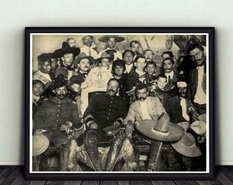 11x14 Pancho Villa / Emiliano Zapata Mexican Revolution Photo