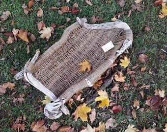 Driftwood and willow sculptural basket