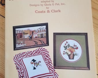 A collection of cross stitch, Designs by Gloria and Pat, vintage