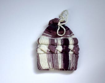 Wool knitted hat for 0 to 1 month nouveau_nes