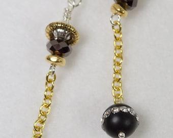 Black and Gold Elegance earrings
