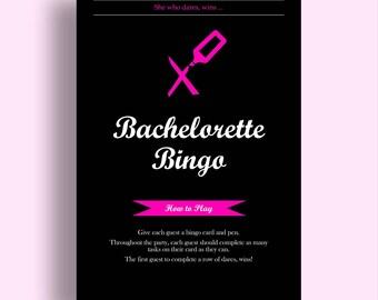 Bachelorette Bingo Game Download Bridal Shower Games Bachelorette Party Games Hen Party Games Dare Game Bachelorette Games Dare Bingo Game