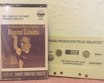 VTG Five Hundred Years of the Harp Nicanor Zabaleta Everest De Cabezon Palero Ruiz de Ribayas Naderman Glinka Music Audio Cassette EC BIN