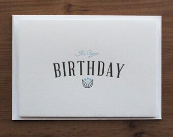 It's Your Birthday… Letterpress Notecard
