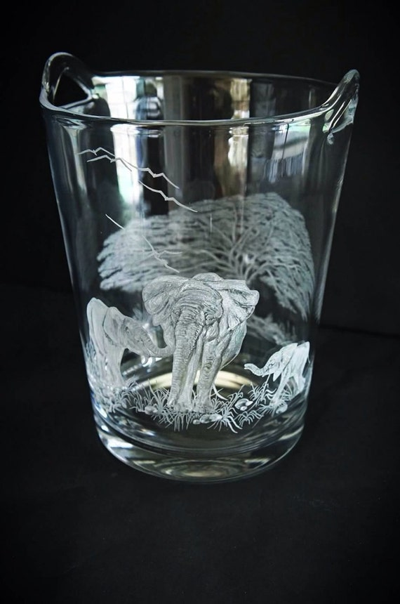 Elephant Walk, handblown crystal champagne/ice bucket