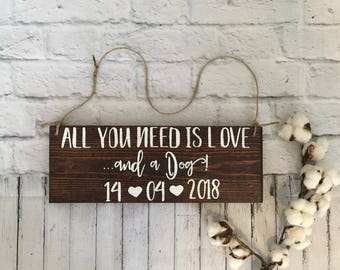 My Humans Are Getting Married Wedding Signs For Dogs puppy sign Save the Date Engagement prop Used Wedding All you need is love