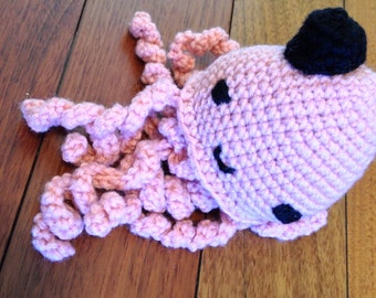 Adorable crochet octopus and baby teether