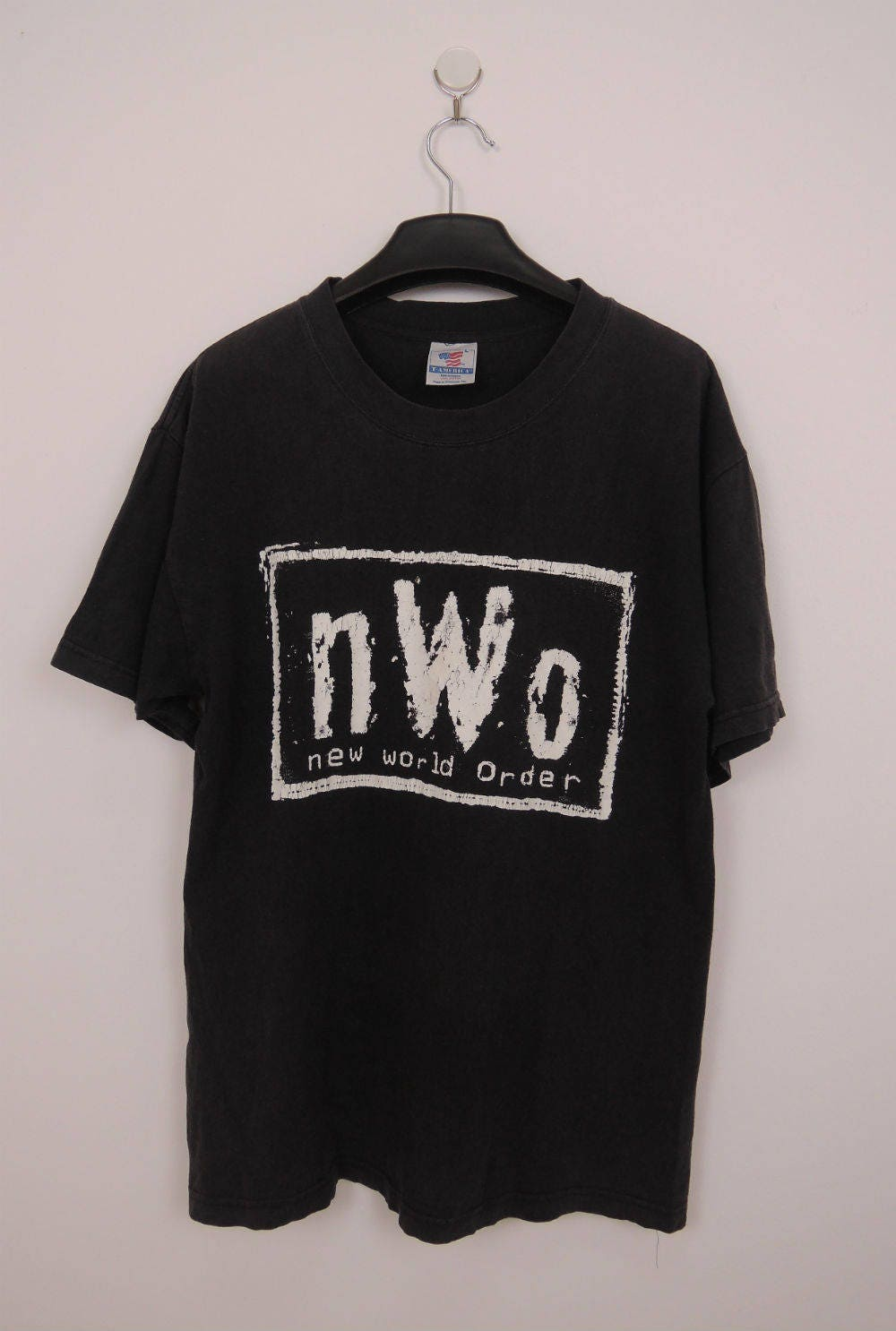 Vintage NWO New World Order T-Shirt Swag Street Wrestling Wear Top Tee Size L 0435FtUjCt