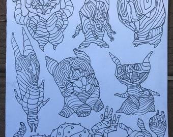 Sketchbook Pig Bats