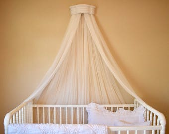 Bed Canopy with Double Material, Bed crown canopy, crib canopy, crib crown, bed crown, bed canopy