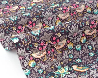 20% off fabric Liberty of London Strawberry Thief pink turquoise 95x138cm