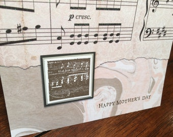 Mother's Day card - music design