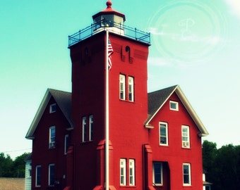 Harbor Lights, lighthouse, red nautical