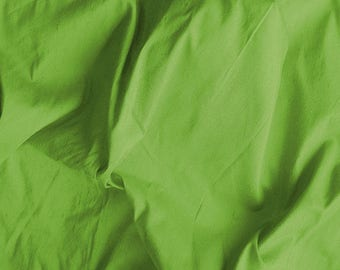 Pure Silk Dupioni - Bright Green - 100% Silk - SLDP10