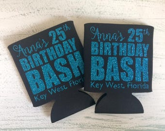 Birthday Bash Can Coolers//Birthday Can Coolers//Birthday Presents//Destination Birthday Party//Fun Can Coolers