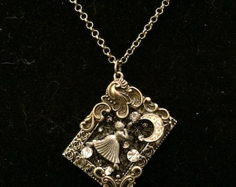 Dancing in the Moonlight Pendant Necklace Macabre Gothic Victorian Steampunk