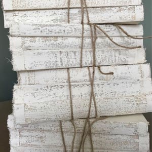 3 Sets Of White Books, French Country Decor, Uncovered Painted Books, White Books, Distressed Books, Old Book Stack, Trending Decor,