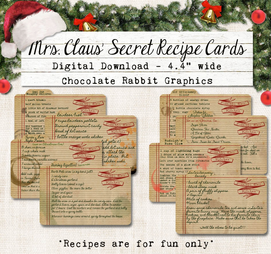 electronic recipe cards