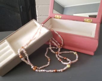 Beautiful coral distressed jewelry box