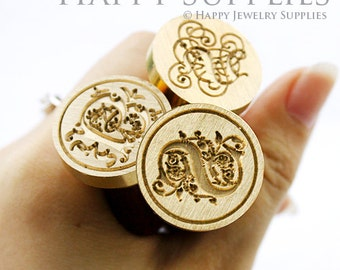 1pcs 30mm Custom Initial Gold Plated Wax Seal Stamp (WS003)