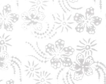 Mood Rings Ivory Floral 3557 Batik from Batik Textiles by the yard