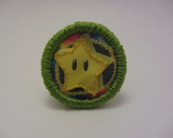 Rainbow Road Super Star Hand Embroidered Merit Badge-Style Patch