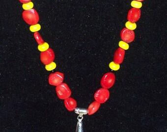 Native American Sunburst Agate Necklace