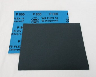"""800 Grit  Wet / Dry Sand Paper  9""""x11"""" Sheets Package  Of 10"""