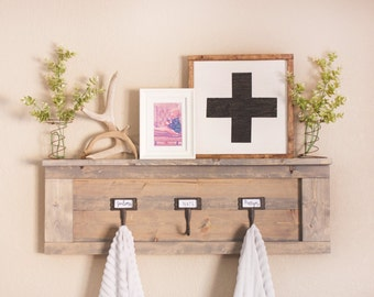 Wooden Shelf Coat Rack Shiplap Shelf Picture Ledge Rustic on bathroom towel hook ideas, bathroom towel tree for wall, towel bar with hooks, bathroom towel hooks racks, his and hers towel hooks, bathroom wall shelf with towel bar, mermaid towel hooks, bathroom shelves with hooks, bathroom towel holders, bathroom towel bath decoration, old door knobs towel hooks, bathroom towel racks product, bathroom beadboard with hooks, bathroom mirror with hooks, bath towel hooks, diy shelves with hooks, white shelf with towel hooks, bathroom tub surround tile idea, bathroom towel bar rustic hickory log, towel rack with hooks,