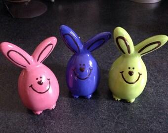 Bunny eggs set of 6