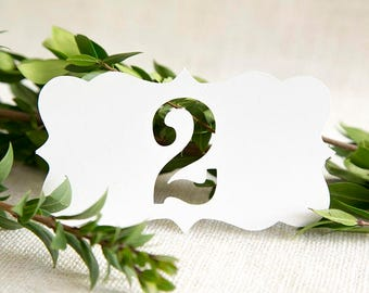 Classic Table Number, Wedding Table Numbers, Wedding Reception, Wedding Decoration, Wedding Signs, Papercut, Decor