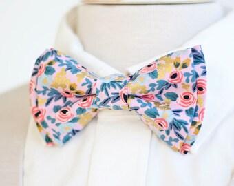 Bow Tie, Mens Bow Tie, Bowtie, Bowties, Bow Ties, Groomsmen Bow Ties, Wedding Bowties, Ties, Rifle Paper Co - Rosa In Violet