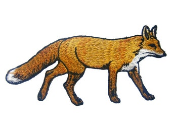 Fox Embroidered Applique Iron on Patch