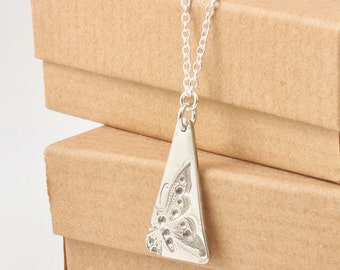 Butterfly Necklace | Handmade Silver Butterfly Necklace | Pure and Sterling Silver | Butterfly Pendant UK