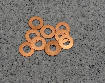 "3/4"" Copper Washer 24 Gauge 3/4""OD/9mmID Pack of 10"