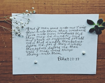 Custom Calligraphed Scripture