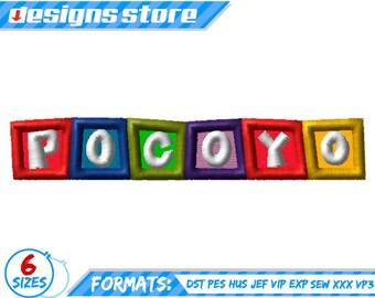 BABY APPLIQUE DESIGN Pocoyo Baby Embroidery machine applique Pattern Pocoyo baby embroidery applique design Pocoyo baby Embroidery Applique