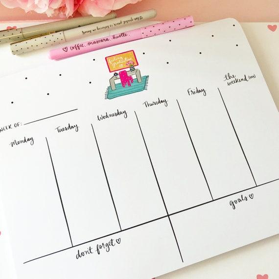 Feeling productive - 8x10 tearaway weekly pad