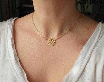 24K Gilded Granada Necklace