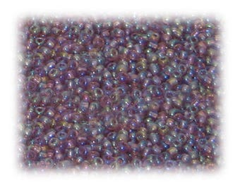 11/0 Mauve Rainbow Luster Glass Seed Beads - 1 oz. Bag
