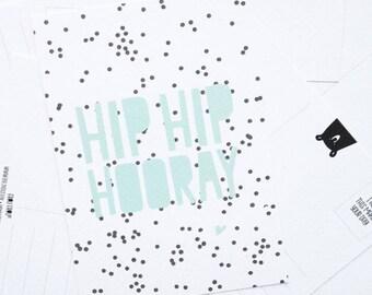Postcard ' Hip hip Horaay ' A6
